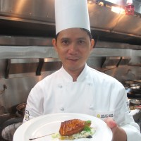 Oven Baked Cod Fillet with Egg White and Conpoy