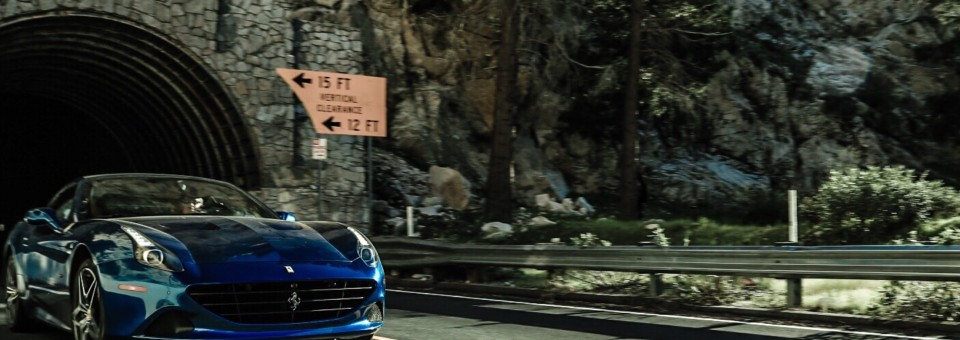 Surfing canyons of LA in a Ferrari California T
